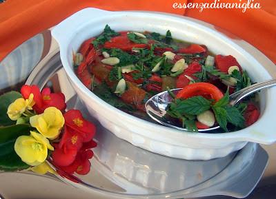 Peperoni alle erbe aromatiche e mandorle