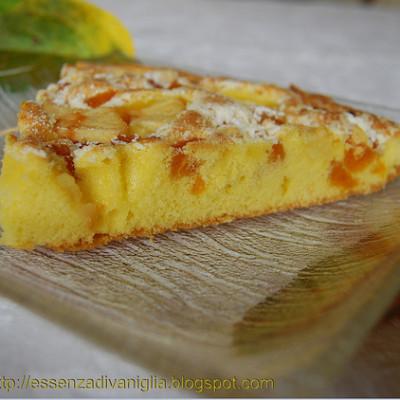 Torta con mele e albicocche secche
