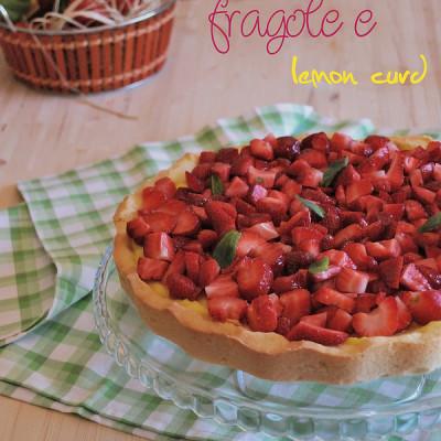 Crostata di fragole e lemoncurd