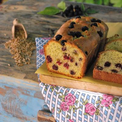 """Cake di Kamut® con more e semi di papavero, per """"Io non mangio solo"""""""