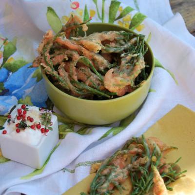 Tempura di salicornia (o asparago di mare)