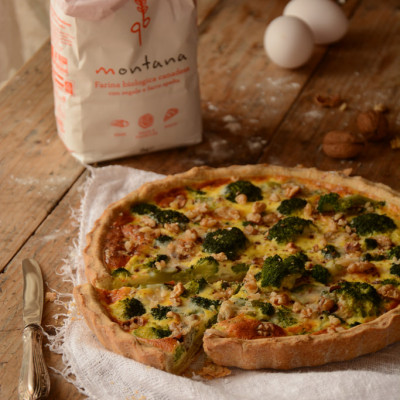 Quiche con Broccoli, Gorgonzola e Noci