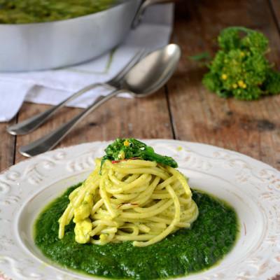 Spaghettoni alla Provola Affumicata con Friarielli
