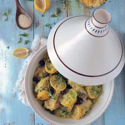 Tajine di Pollo con Olive Nere e Limoni Canditi