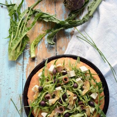 Pizza con Puntarelle – Lievitazione Naturale