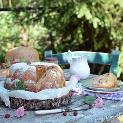 Ciambellone al Cocco con Fragoline di Bosco – Senza Lattosio