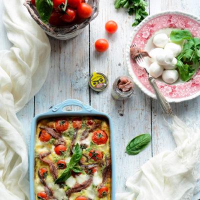 Clafoutis Mozzarella e Acciughe
