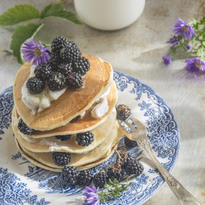 Pancake quinoa e yogurt