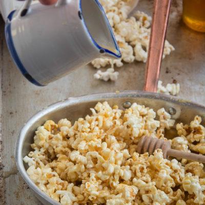 Pop Corn Caramellati al Miele senza Burro