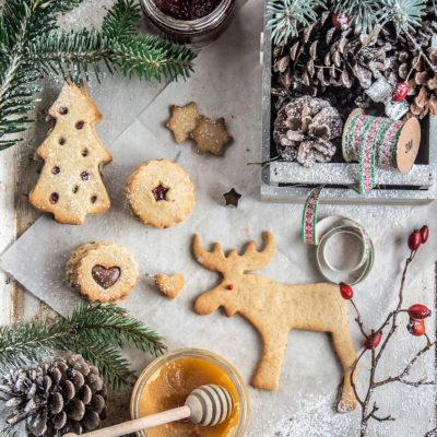 Biscotti di Natale al miele con Farina di Riso, Zenzero e Miele