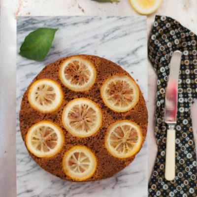 Torta Rovesciata al Cacao con Limoni Caramellati